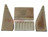 "Baxi FULL SET 4x Back Bricks 16"" - 18"" (Top, Bottom & Sides) Fireclay"