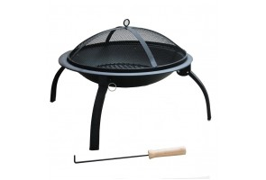 Outdoor FIREPIT for Patio | Garden - Steel Firebowl 56cm Diameter x 39cm High