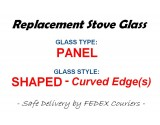 Eva [GLOUCESTER | 900] Stove Glass [Shaped Panel] - Heat Resistant Ceramic Stove Door Glass 305mm x 117mm x 4mm