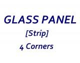 Baxi [BAROQUE] Stove Glass [Strip - Side] - Heat Resistant Ceramic Stove Door Glass 268mm x 108mm x 4mm